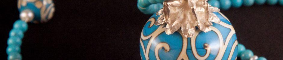 Murano-Glasperle mit Mann und Frau